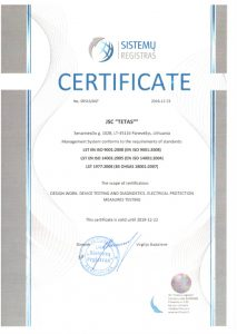 ISO_9001_2008 - ISO_140001_2005 Testing, Designing and Measuring certificate